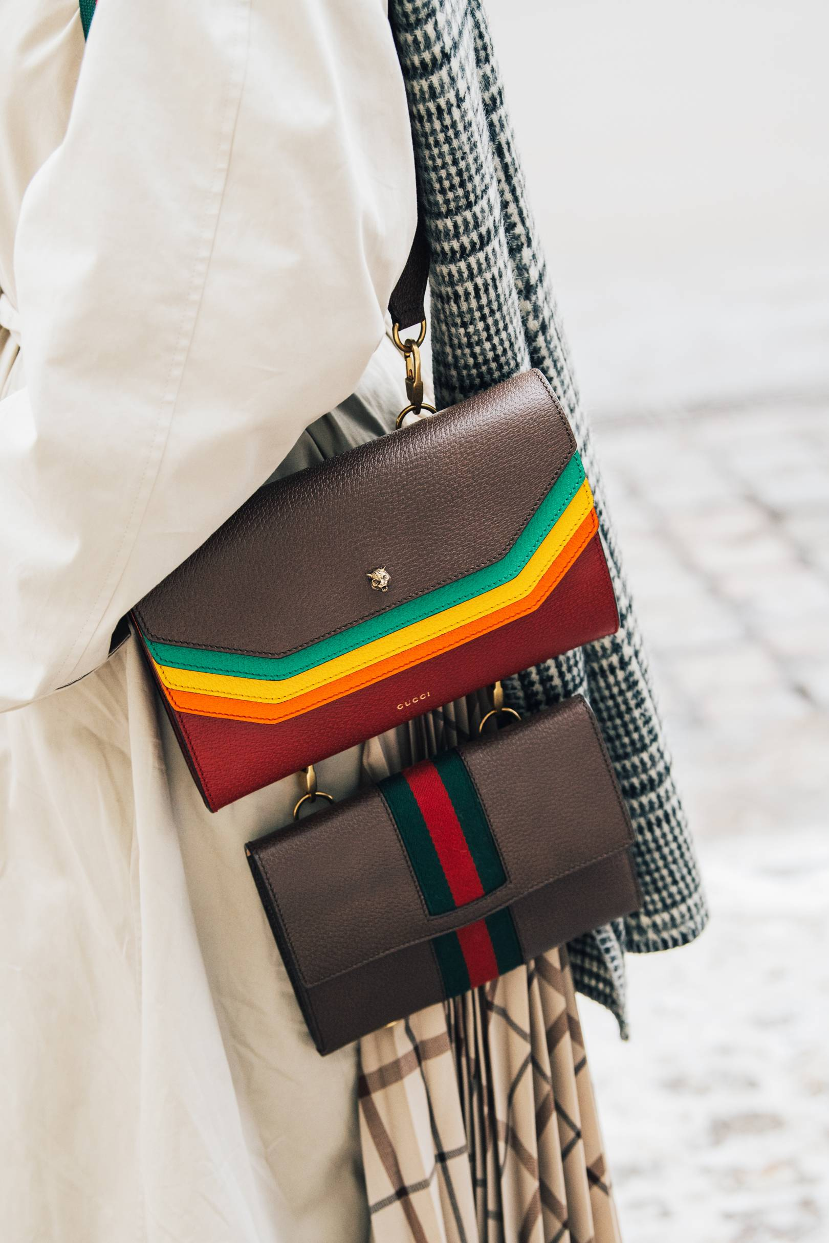 f4d5830b3052 Street Style: How To Wear Two Bags | British Vogue