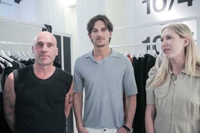 Maurice Terzini (left) and Lucy Hinkfus of Ten Pieces with Australian model Jarrod Scott