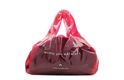 Marine Serre plastic shopper tote