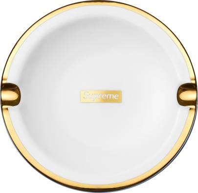 Gold Trim Ceramic Ashtray