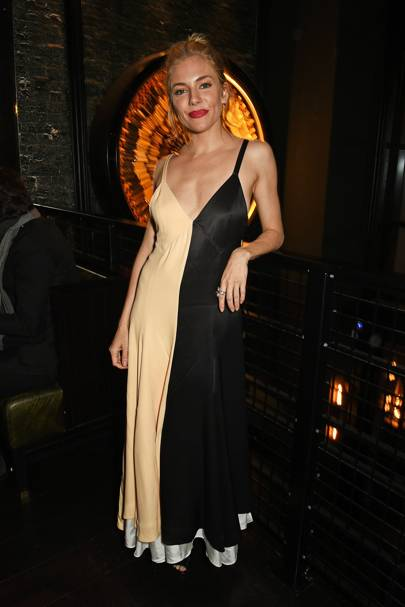 A slip dress for the Burnt premiere after party, October 28 2015