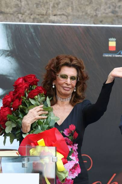 Sophia Loren was declared an honorary citizen of Naples.