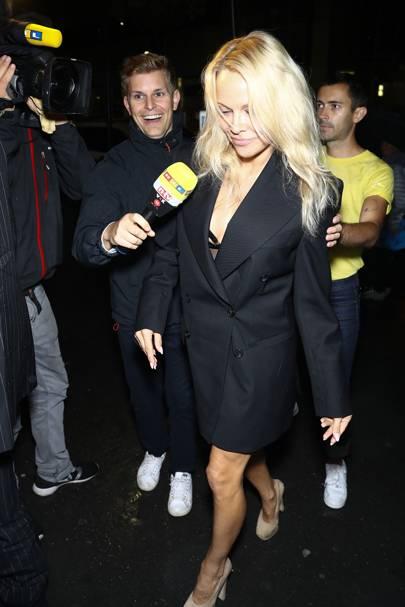 Pamela Anderson at the Pat McGrath Party