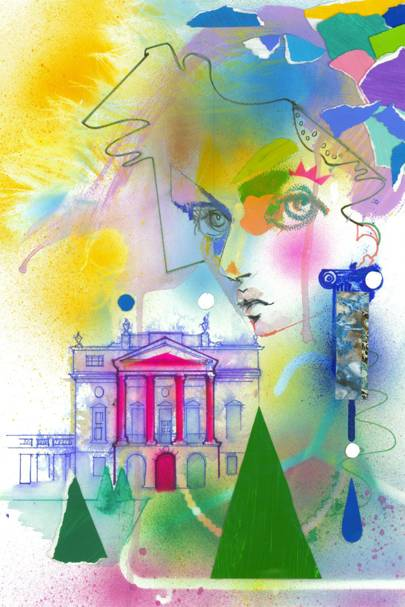 Julie Verhoeven's exclusive drawing for Bath In Fashion