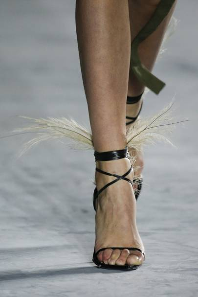 Feathered Sandals Are A Thing