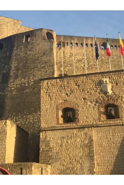 Castel dell'Ovo: the mediaeval castle that was the  venue for the menswear show.