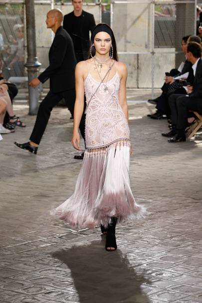 Kendall Jenner modelling in the Givenchy couture show