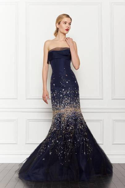Carolina Herrera gown, available at ON Motcomb