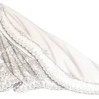 A sketch of Princess Madeleine's Valentino wedding dress