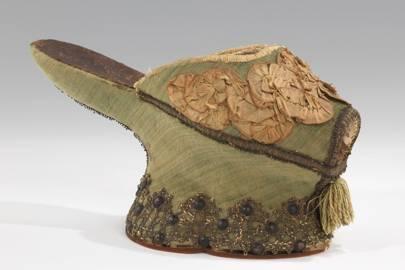 "Silk and metal Italian ""Chopine"" slippers, circa 1550–1650"