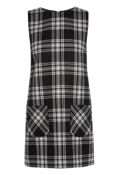 Tartan mini dress, £270