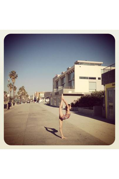 Venice Beach gymnastics.