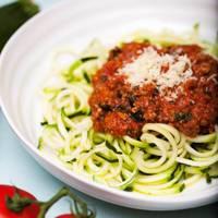 Quick Ragu & Courgette Spaghetti (Courgetti)
