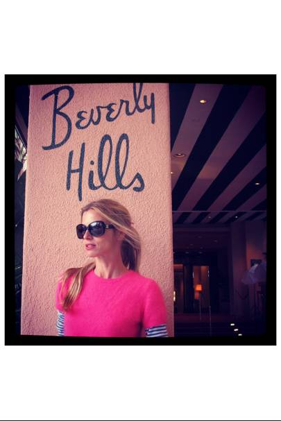 Think pink. Sister by Sibling, The Beverley Hills Hotel, and strawberry milkshakes