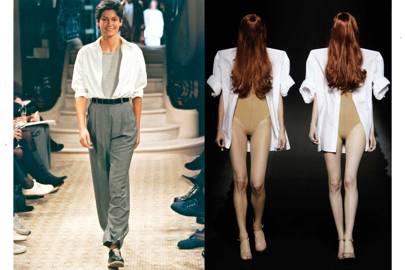 Left, Martin Margiela for Hermès S/S 1999; right, Maison Martin Margiela S/S 2009