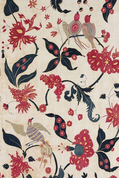 Wall hanging (detail), cotton appliqué Gujarat for the Western market, ca. 1700
