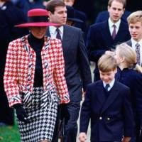 Princess Diana wearing a Moschino suit
