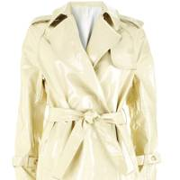 White patent trench coat, £300