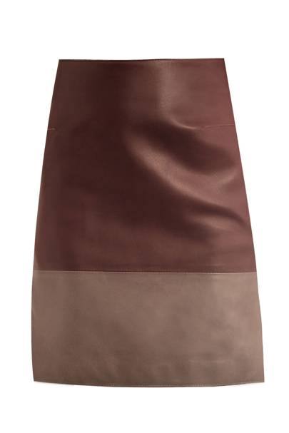 Leather skirt, £635