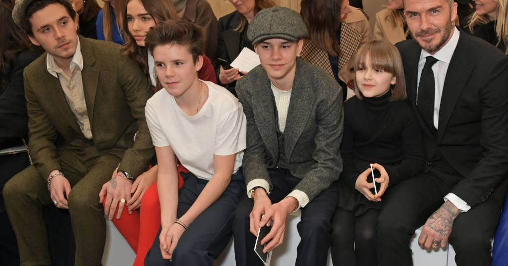 It's A Family Affair: The Beckhams Turn Out To Support Victoria At LFW