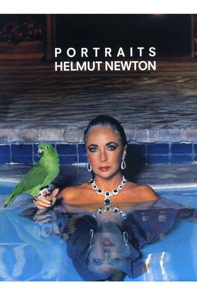 Elizabeth Taylor on the cover of Helmut Newton's book, Portraits, 1986