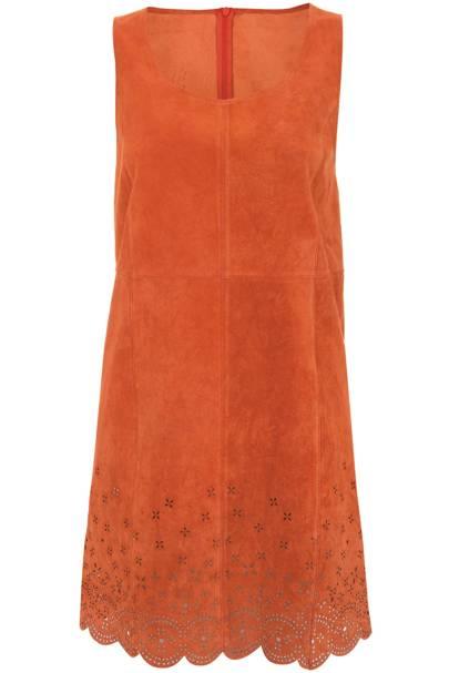 Orange suede dress, £110