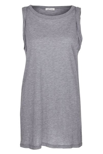Grey marl cotton vest, £20