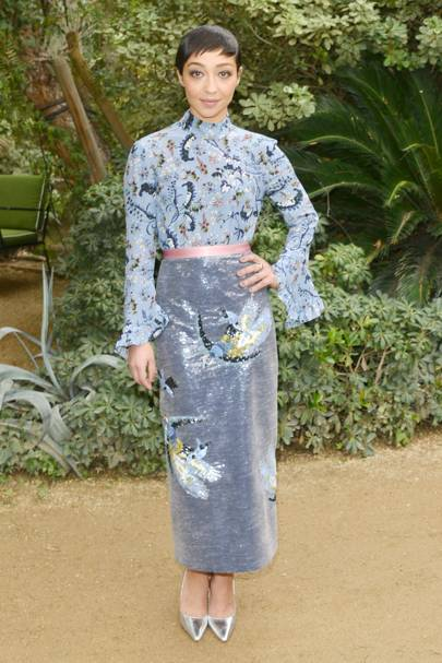 In Erdem at Palm Springs lunch, January 3 2017