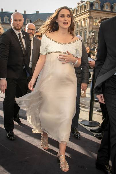 Keira Knightley Reveals She's Pregnant With Her Second Child At Chanel Party In Paris