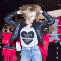 Candice Swanepoel gets ready to meet her fans