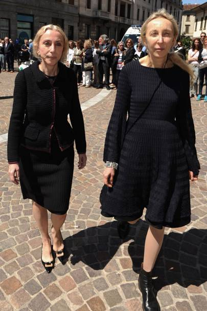 Vogue Italia editor Franca with daughter Carla Sozzani