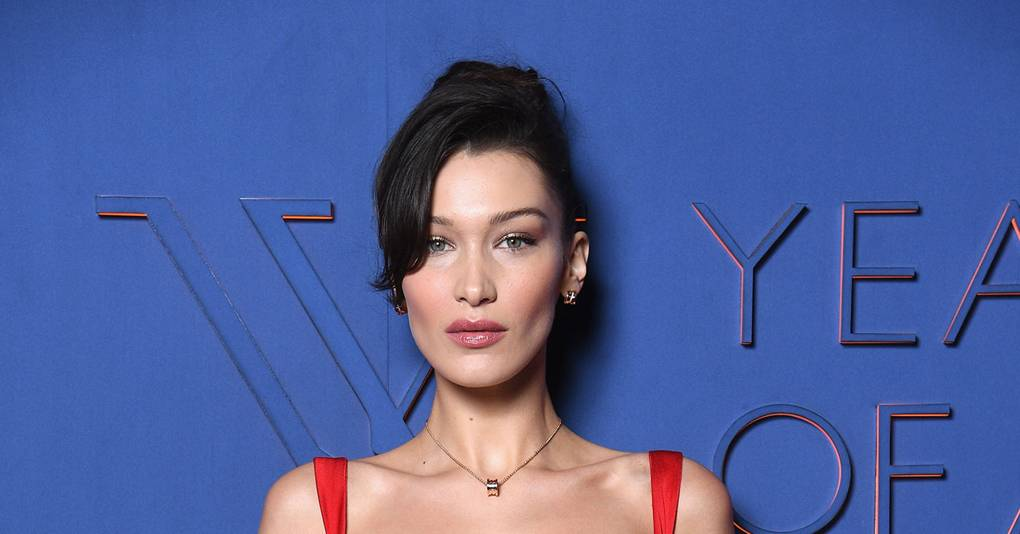 Ahead Of MFW, Bella Hadid Takes Rome In A Scene-Stealing Versace Dress