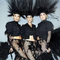 Eva Herzigova, Natasha Poly and Kate Upton backstage at Vuitton