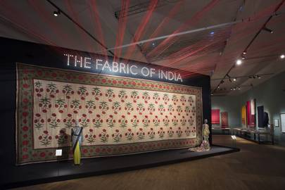 The entrance to the V&A's Fabric of India exhibition
