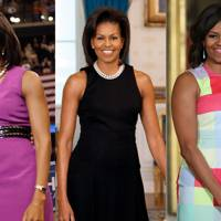 Michelle Obama's sleeveless silhouettes