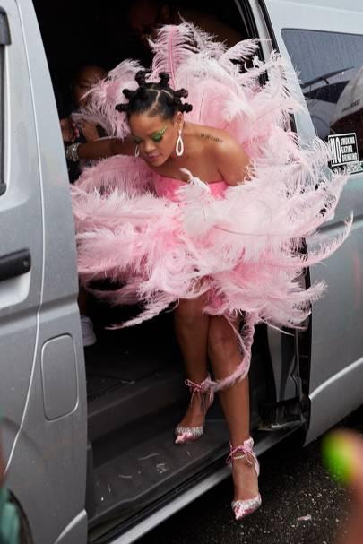 Rihanna's Nanushka Sweater Dress Is Perfect For Summer Nights