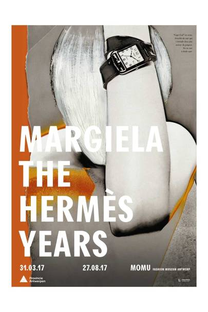 The poster for the new Margiela exhibition at MoMu in Antwerp