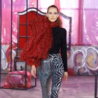Zebra Sequin Trousers From Halpern