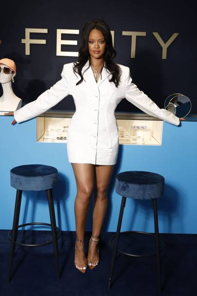 b8f3dea495ead6 It's no secret that Rihanna marches to the beat of her own drum. At the  pop-up store in Paris for a walk-through of Fenty, her debut ready-to-wear  ...
