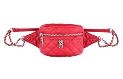 Topshop: red quilted belt bag