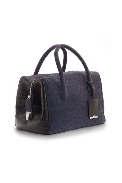 681d09d6a8 KATIE HILLIER FOR ASPREY - The Post Bag in blue and black ostrich, £8,500.