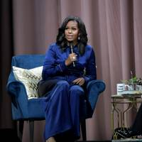 Michelle Obama discusses her new book 'Becoming' with an audience at TD Garden, Boston – November 24 2018