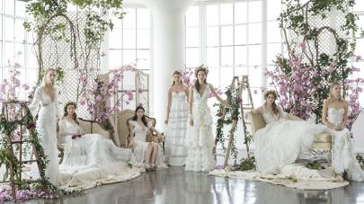 Best wedding dresses bridal fashion week 2018 british vogue traditional or modern long or short baroque embellishment or chic minimalism the wed worthy options can be as dazzling as they are overwhelming junglespirit Choice Image
