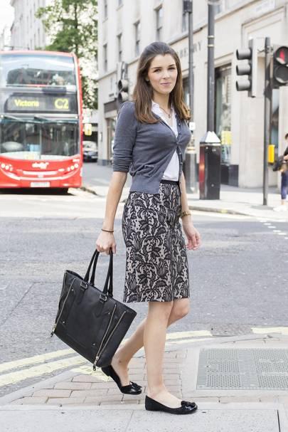 Charlotte Lee, works in marketing