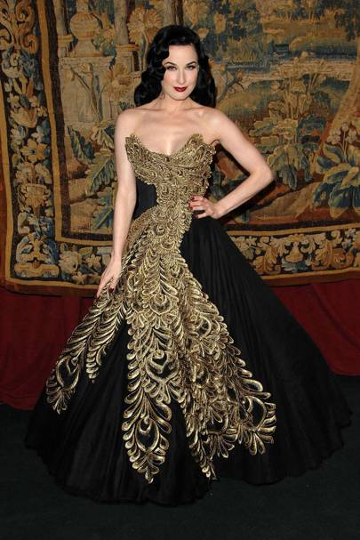 Dita Von Teese at the 2007 On Sale Black Tie Gala Dinner