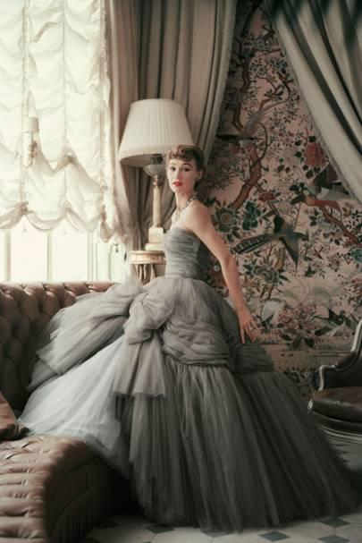Inside Dior Glamour: Sophie Malgat wearing an evening dress