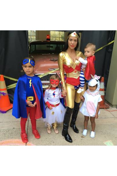 Mason, Penelope and Reign Disick and North West