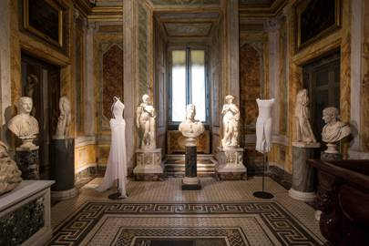 Around 60 dresses are on display at Rome's Galleria Borghese