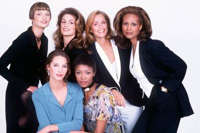 Linda Evangelista, Cindy Crawford, Lauren Hutton, Beverly Johnson, Christy Turlington, and Naomi Campbell