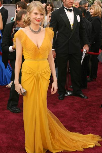 Michelle Williams in Vera Wang